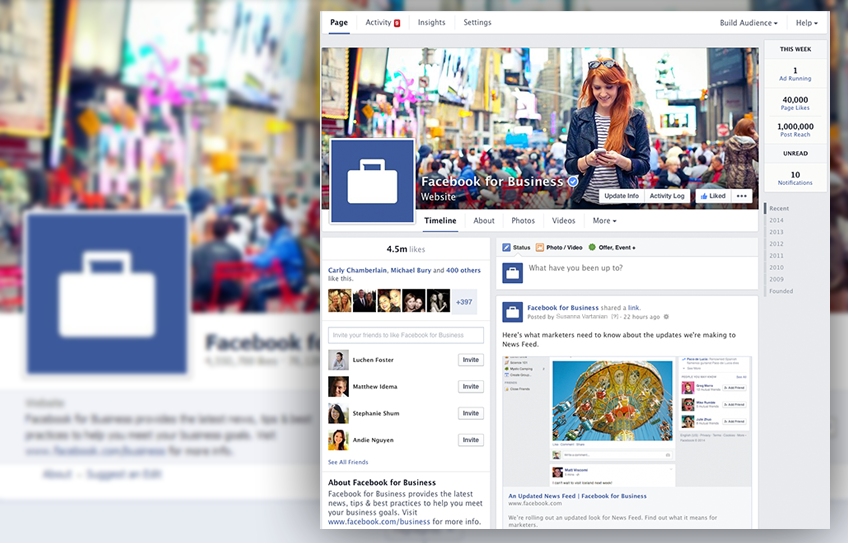 Facebook design nou pentru pages sabina cornovac blog for O architecture facebook