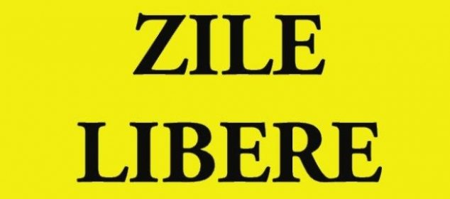 zile libere 2017