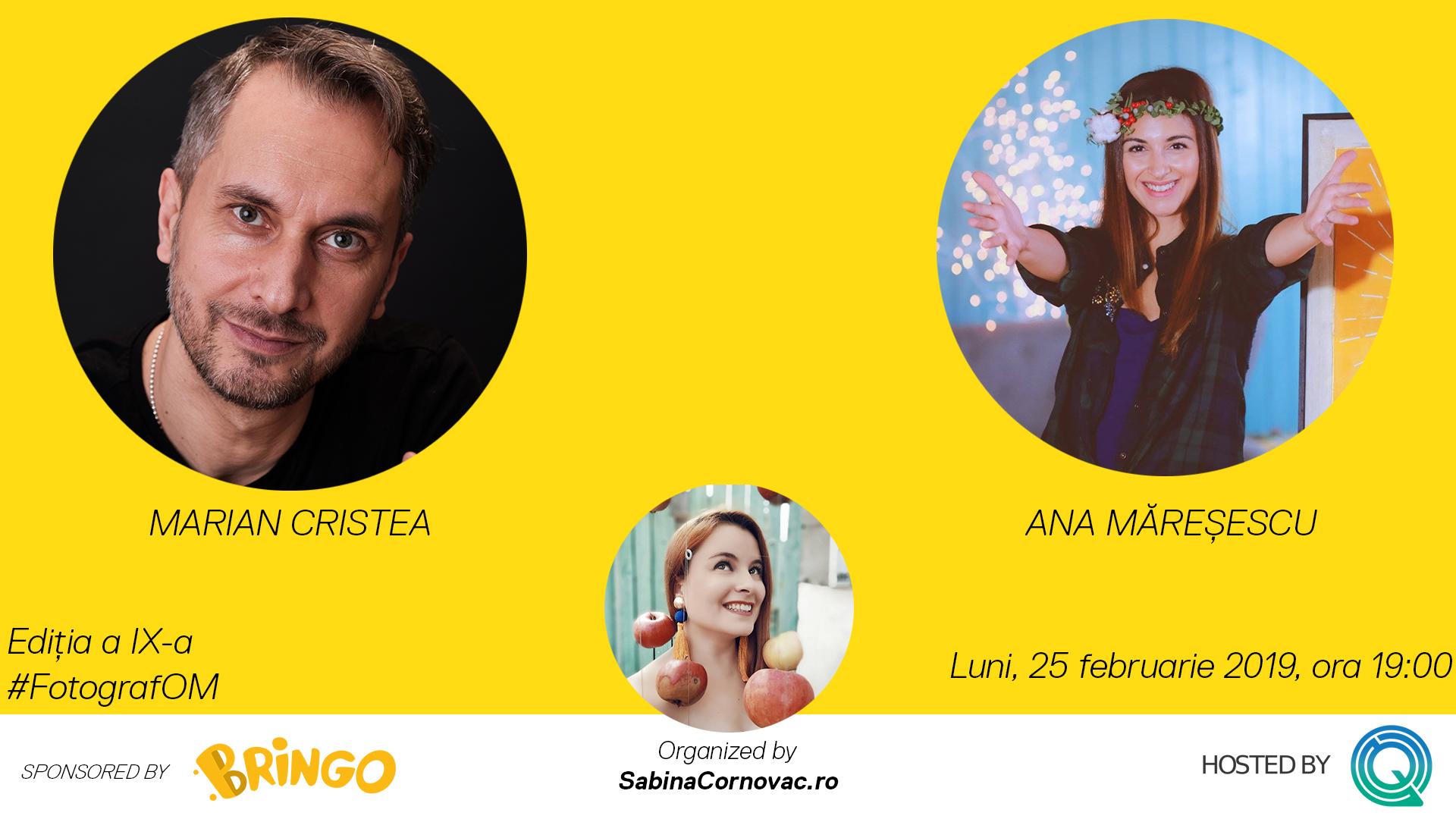 Hai la #FotografOM cu Ana Măreșescu și Marian Cristea